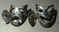 Silver Cuff-links - Comedy/Tragedy Masks